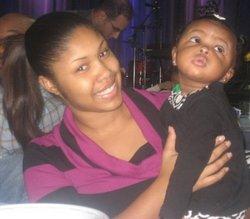 Nova Henry with daughter Ava.