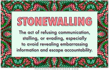 Image result for stonewalling