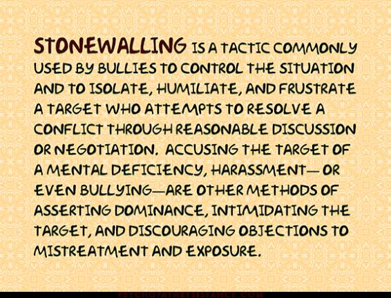 stonewalling