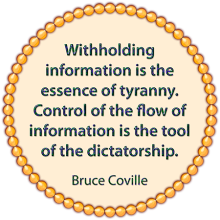 Control of information
