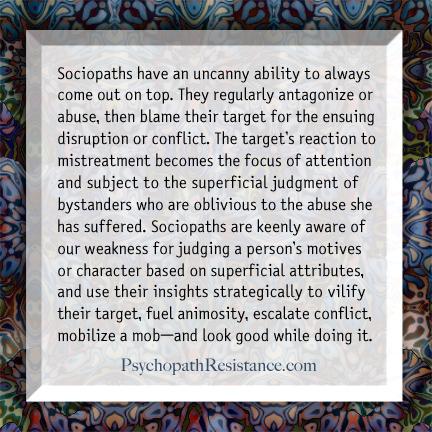 Sociopath tactics