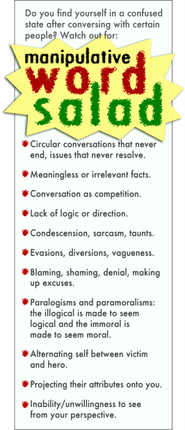 Word Salad and Narc Speak | Psychopath Resistance