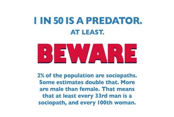 1 in 50 are predators
