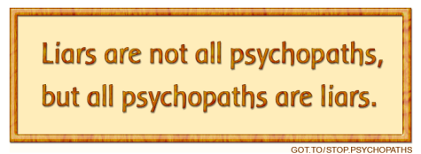 Psychopaths lie